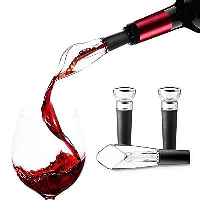 Wine Pourer Pour Spout and Wine Stopper Vacuum,...