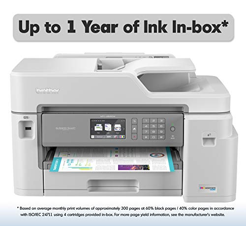 Brother Inkjet Printer, MFC-J5845DW, INKvestment Color Inkjet All-in-One Printer with Wireless, Duplex Printing and Up to 1-Year of Ink In-box, Amazon Dash Replenishment Ready