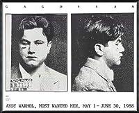 ポスター アンディ ウォーホル Most Wanted Men No. 2 John Victor G 額装品 アルミ製ハイグレードフレーム(ブラック)