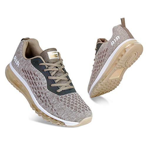 Mabove Laufschuhe Herren Turnschuhe Sportschuhe Straßenlaufschuhe Sneaker Atmungsaktiv Trainer für Running Fitness Gym Outdoor(Gold/HK78,45 EU)