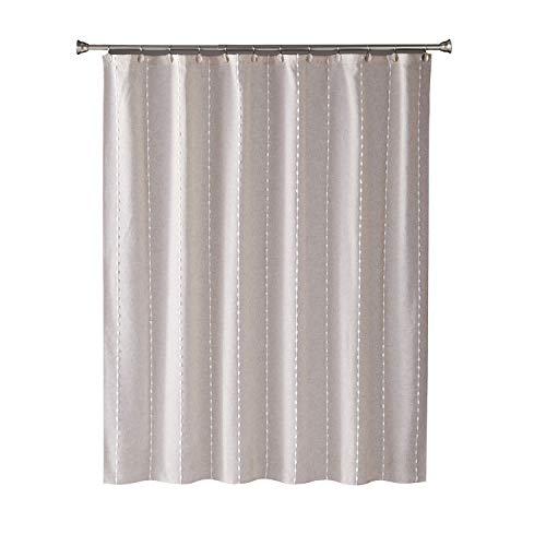 "SKL Home by Saturday Knight Ltd. Davidson Stripe Shower Curtain, Natural, 70""x72"""