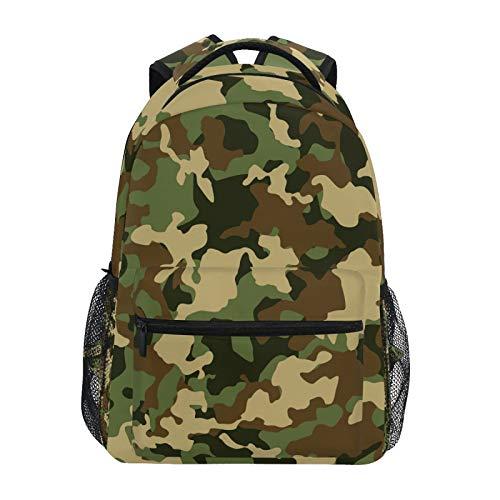 OOWOW Zaino Scuola Militare Camo Daypack Leggero Impermeabile College Laptop Zaino Scuola Elementare Borsa A Tracolla Grande Bookbag per Donne Uomini Bambini Ragazzi