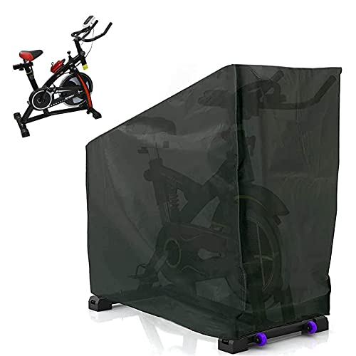 Funda protectora para bicicleta de 123 x 58 x 142 cm, para practicar deportes en interiores o exteriores, color negro
