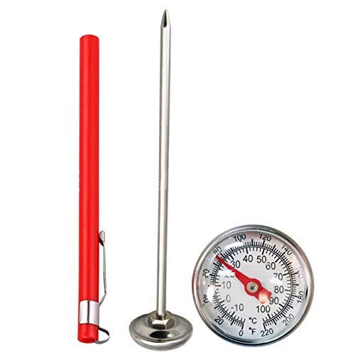 W.zz Termómetro de Acero Inoxidable Sonda de Cocina Comida té Agua Carne Leche Café Espuma Medidor de Temperatura de Barbacoa -10 a 120 ° C