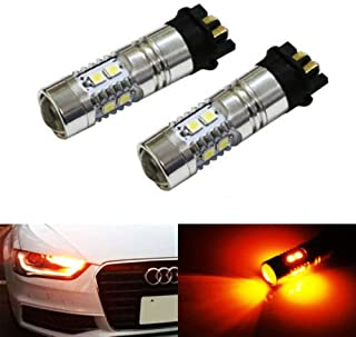 iJDMTOY (2) Amber Yellow Error Free PWY24W LED Bulbs For Audi A3 A4 A5 Q3 VW MK7 Golf CC Ford Fusion Front Turn Signal Lights, BMW F30 3 Series DRL Lamps