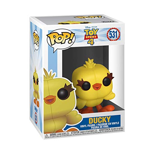 Funko- Pop Vinile: Disney: Toy Story 4: Ducky Figura da Collezione, Multicolore, 37399