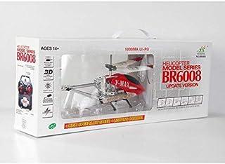 طائرة مروحية هليكوبتر بالريموت كنترول ,V-MAX,BR6008 أحمر