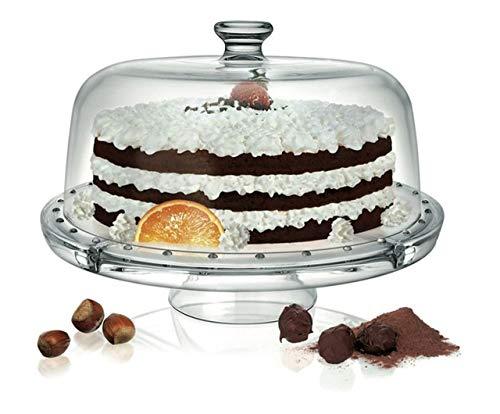 SWEET HOME Stand pour Les Desserts et Les Fruits avec Une Cloche de Verre Polyvalent cod.AD11510LU cm 22h diam.31 by Varotto & Co.