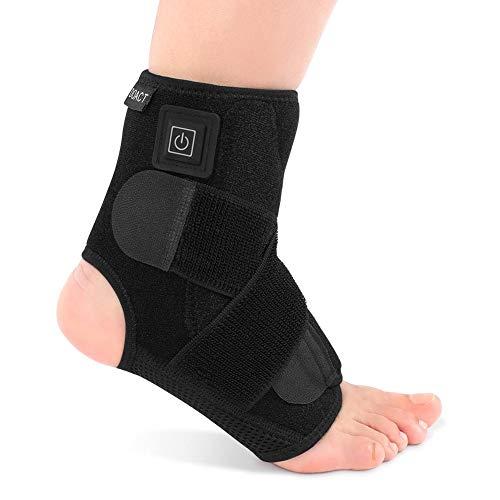 Tobillera con calefacción, tobillera para tobillo, terapia de calor en el tobillo para mujeres hombres esguinces de tobillo hinchazón recuperación de alivio del dolor