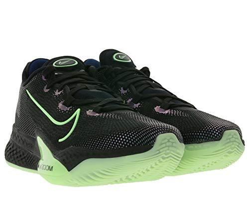 Nike Air Zoom BB NXT Sneaker Funktionelle Herren Basketballschuhe mit Air Zoom und React-Foam Turnschuhe Sportschuhe Schwarz/Grün, Größe:45