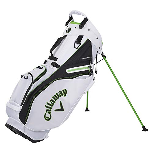 Callaway Golf 2021 Fairway 14 Stand Bag, Double Strap Epic White/Black/Green