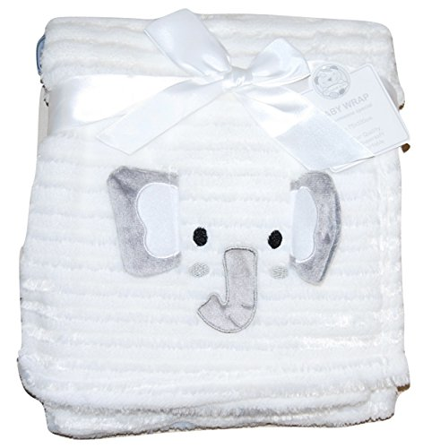 Bebé niña niño Unisex suave forro polar manta Wrap cuna Moisés Cesta elefante