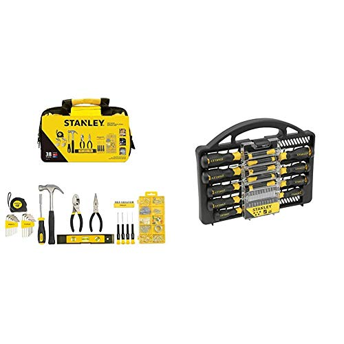 Stanley Material Tool Set, 38 Pieces, STMT0-74101 & Stanley - STANLEY Screwdriver Set 34 pcs - STHT0-62141