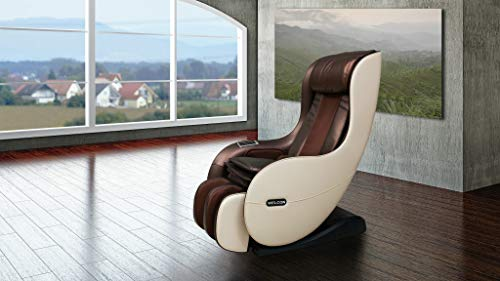 Massagesessel WELCON EASYRELAXX in beige braun mit Wärmefunktion Automatikprogramme Knetmassage Klopfmassage Rollenmassage Airbagmassage Kompression Sessel Massagestuhl