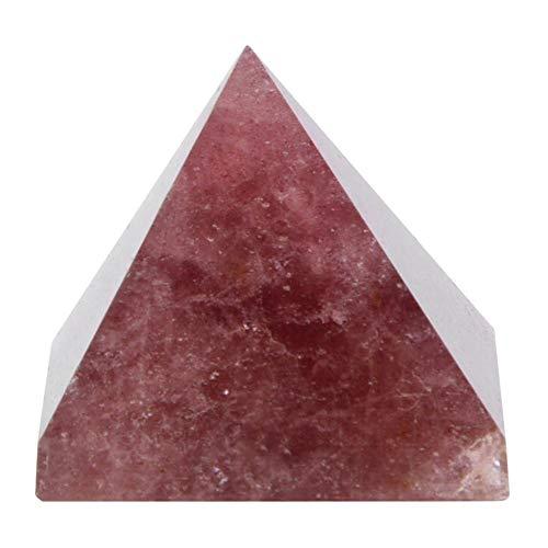 Kristallen versiering, 100% natuurlijk kristallen kwarts piramide-energiegenezende toren uitgangsdecoratie-versiering voor hoofddesktop-accessoires