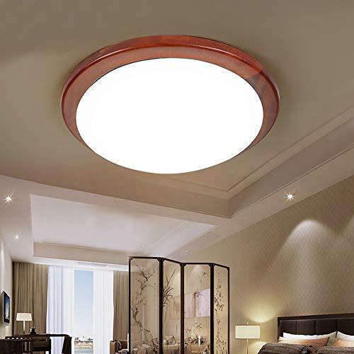SSBOY LED Deckenleuchte aus Holz, Neutral Weiss Holzlamp Deckenlampe Innen Decken Lampen Deko-Beleuchtung für Wohnzimmer Schlafzimmer Studie Büro Hotels Restaurant,XXXL