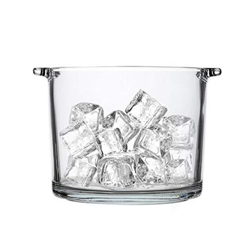 cubiteras para hielo Cubo de hielo de vidrio con clip portátil Bucket Bucket Bucket Champagne Bucket Beverage Bucket Fiesta de actividades y vajillas de camping Enfriador de botellas de vino