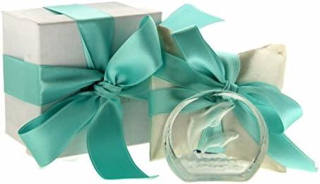 Bombonera caja cojín Icona Delfines Cristal Murano Confetti Bigliettino