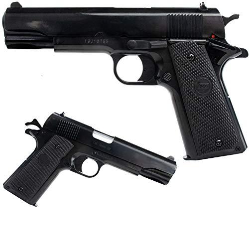 SWE Colt 1911 Softair Pistole ASG Airsoft Kaliber 6mm BB <0,5 Joule Federdruck Schwarz
