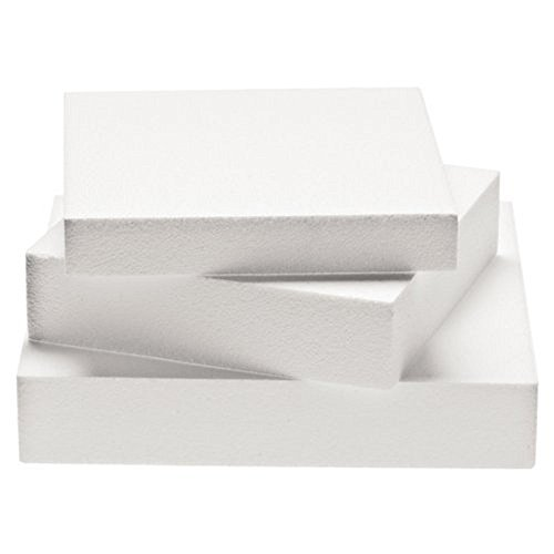 Decora - Rectangle en polystyrène - Blanc 20x30x7,5 cm Bianco
