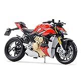 El Maquetas Coche Motocross Fantastico 1︰18 para Ducat Super Naked V4 S Modelo De Motocicleta De Fundición A Presión Juguete Regalo Educativo para Niños Adultos Expresión De Amor