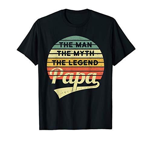 Herren Vatertag Retro - The Man The Myth The Legend Papa T-Shirt
