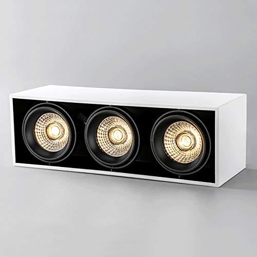 LED 3 CUBO LIGHT CUBO Downlight, foco de luz blanca montada en superficie ajustable, lámpara de acento de mazorca anti deslumbramiento, accesorio de iluminación de aluminio moderno 110V-240V [Clase de