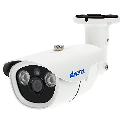 KKmoon, Telecamera Sorveglianza Esterno, IP Security Camera, Bullet Camera CCTV 1080P AHD 2,0MP 3,6mm 1/3 Pollici CMOS 2 Array IR LEDs Visione Notturna Impermeabile IR-Cut per Sicurezza Domestica