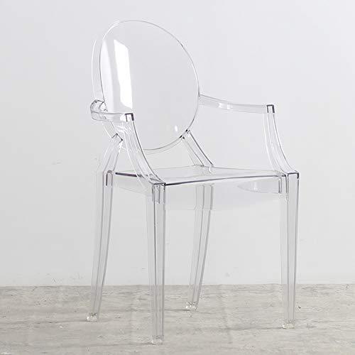 L.BAN Durchsichtiger Kunststoff Pub-Stuhl Mehrzweck Moderner Stil Lounge-Sessel