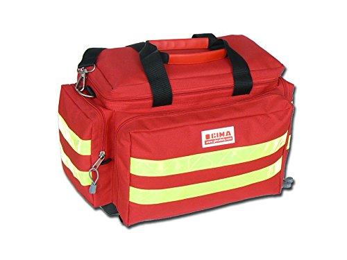 GIMA - Emergency Smart Bag, Rot Farbe, Polyester, leere, Trauma, Rettungsdienst, ärztliche, Erste Hilfe, Krankenpfleger, Mehrtaschenbeutel für Sanitäter, 45x28x28 cm