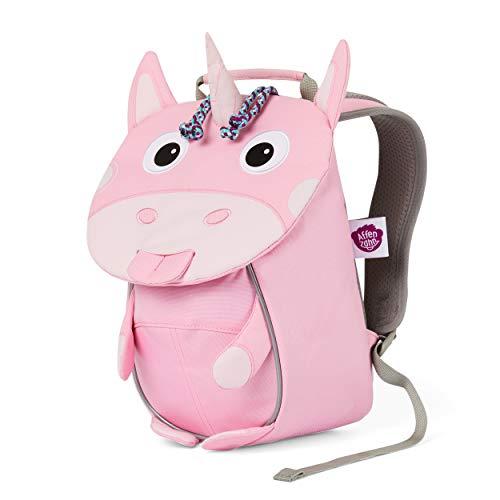 Affenzahn Kleiner Freund - Kindergartenrucksack für 1-3 Jährige Kinder im Kindergarten und Kinderrucksack für die Kita - Einhorn - Pink