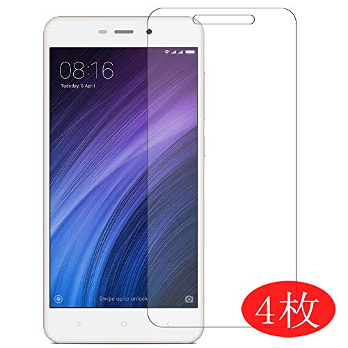 【4 Pack】 Synvy Screen Protector for Xiaomi Redmi 4A / Xiaomi Hongmi 4A 0.14mm TPU Flexible HD Clear Case-Friendly Film Protective Protectors [Not Tempered Glass] New Version