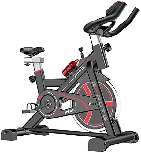 8KG Flying Aerobic Bike Bike + Sensori di impulso Sedile regolabile Sedile e display a LED per esercizio cardio a casa Capacità di carico massimo 200KG (aggiornamento)-rosso