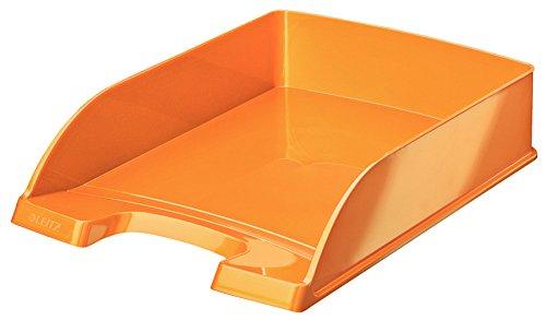 Leitz WOW Vaschetta Portacorrispondenza Plus, Formato A4, Polistirene, Arancione Metallizzato, 52263044