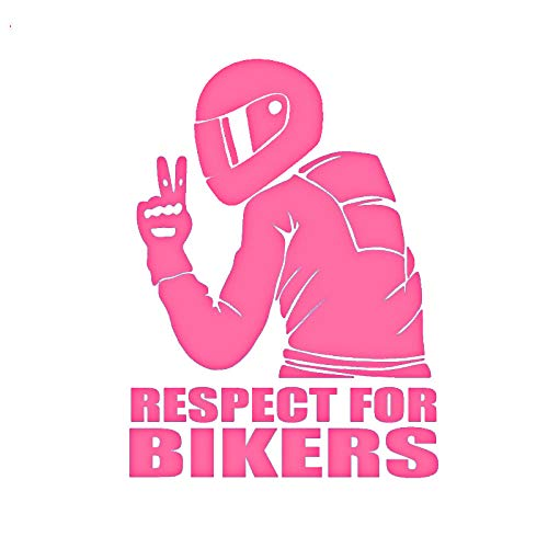 WAXY Carbon Fiber Vinyl Stickers for Bikers Vinyl Stickers on Auto Decals Car Motorcycle Decoration 14x19cm-Pink