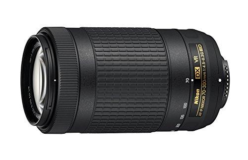 Nikon AF-P DX Nikkor 70-300mm 1:4.5-6.3G ED VR Objektiv (58 mm Filtergewinde) für Nikon-F-Bajonett schwarz