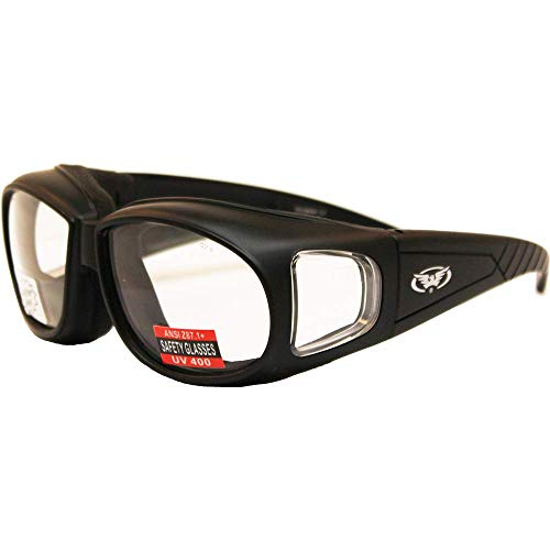 Global Vision Outfitter Foam Padded Fits Over Most Glasses Clear Lenses