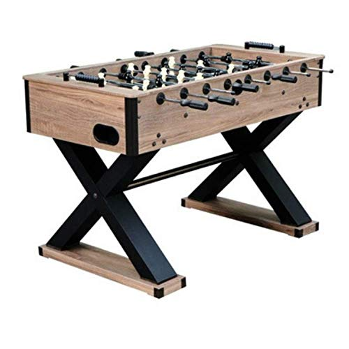 Lowest Prices! Fast Furnishings X-Pattern 54 Inch Foosball Table Black and Brown