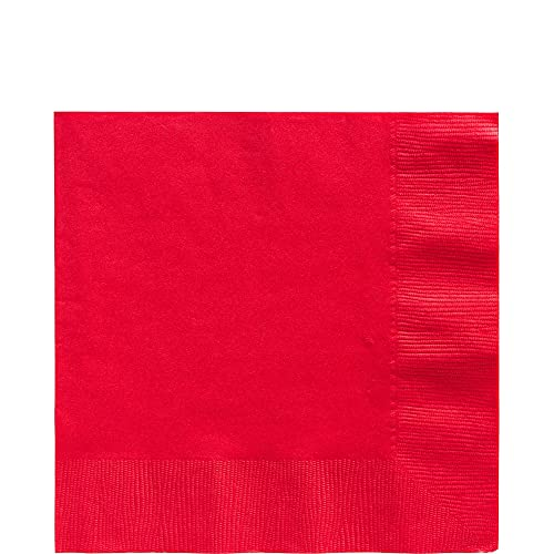 Party City Big Party Pack, Red, 2-Ply Luncheon Napkins, 100 Per Pack