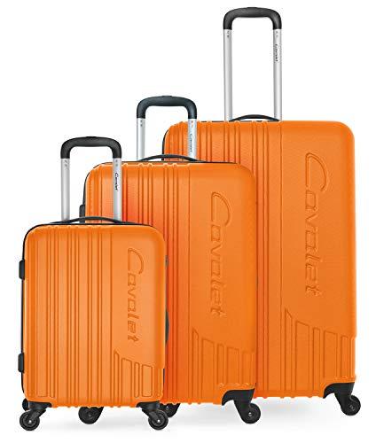 Cavalet Malibu - Koffer Set - Kabinenkoffer 54cm + Koffer 65cm + großer Reisekoffer 73cm, robuste Trolleys mit Erweiterung, Packvolumen 247 L, ABS, TSA...