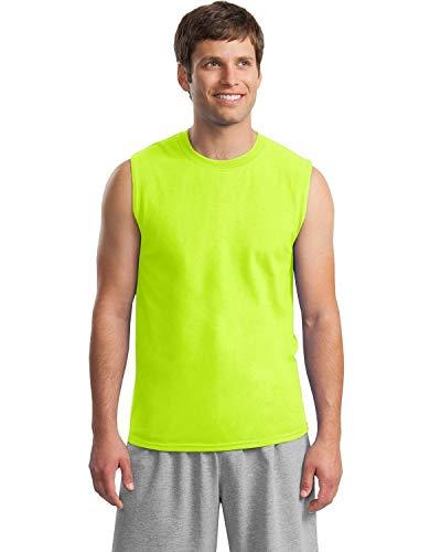 『(ギルダン) Gildan メンズ パフォーマンス スポーツベスト ノースリーブ タンクトップ スリーブレスTシャツ 男性用』の1枚目の画像