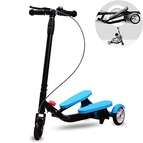 Lowest Prices! Scooters Self Balancing Children Foot 3-12 Years Old Folding Frog Flashing Three Whee...