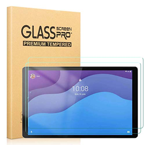 Pnakqil [2 Piezas] Protector de Para Pantalla Lenovo Tab M10 HD Gen 2(TB-X306X) 10,1 Pulgadas,Protector de Cristal Vidrio Templado Premium Transparencia HD [Anti-arañazos] [No Burbujas]