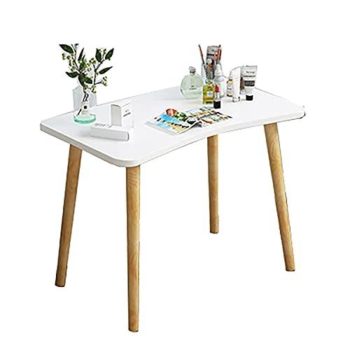 SH-tables Escritorio De Computadora, Escritorio Nórdico, Escritorio, Escritorio, Escritorio, MDF + Tocador De Madera Maciza, para Sala De Estar, Dormitorio, Oficina (Color : A, Size : 60×40×73cm)
