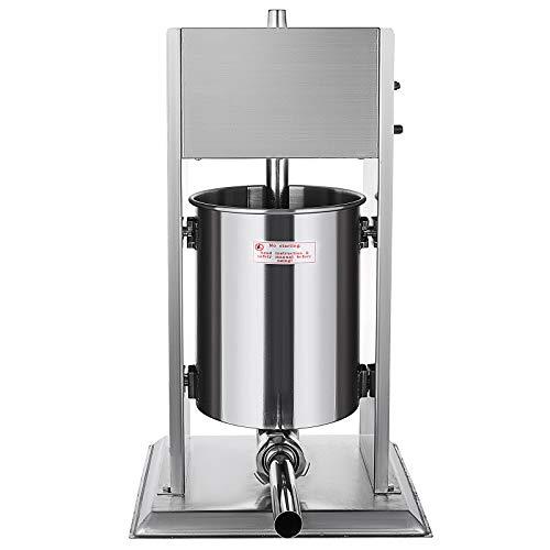 Moracle Máquina para Hacer Salchichas Manual Embutidos Salchicha Manual 2 Velocidades 15L Máquina Manual para Preparar Chorizo15kg