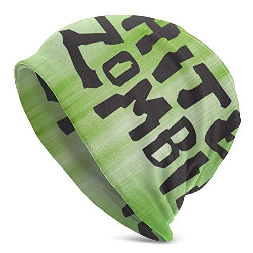 Gorro de cobertura Blanco con logotipo de zombi Sombreros de punto Gorros Gorro fino neutral Beanie Protector de oídos Estiramiento suave Cálido