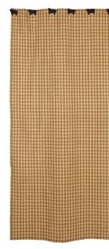 IHF Home Decor Shower Curtain Cambridge Mustard Bathroom Accessories 100% Cotton 72 Inch x 72 Inch
