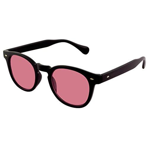 Kiss Sonnenbrille stil MOSCOT mod. DEPP Gradient - VINTAGE Johnny Depp mann frau CULT unisex - SCHWARZ/Rot