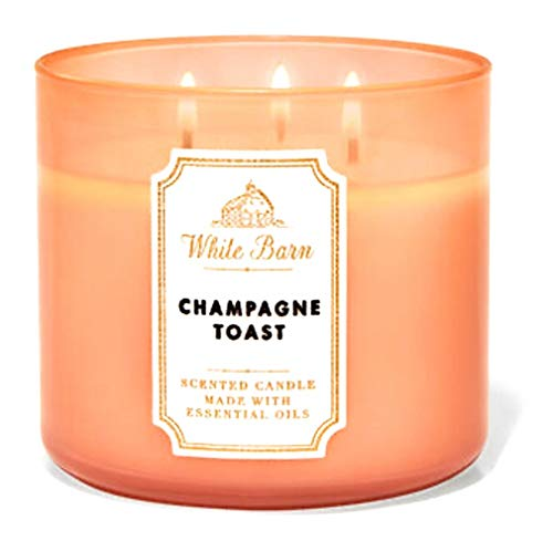 Bath & Body Works White Barn 3-Wick Candle in Champage Toast (2019)