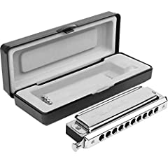 """Pocket Piano"" -This is a chromatic harmonica with 10 hole 40 tones is a great Christmas Gift for your family & friends. There's a button on the right which when NOT pressed allows you to play a standard major scale in the key of ""C"", and while with ..."